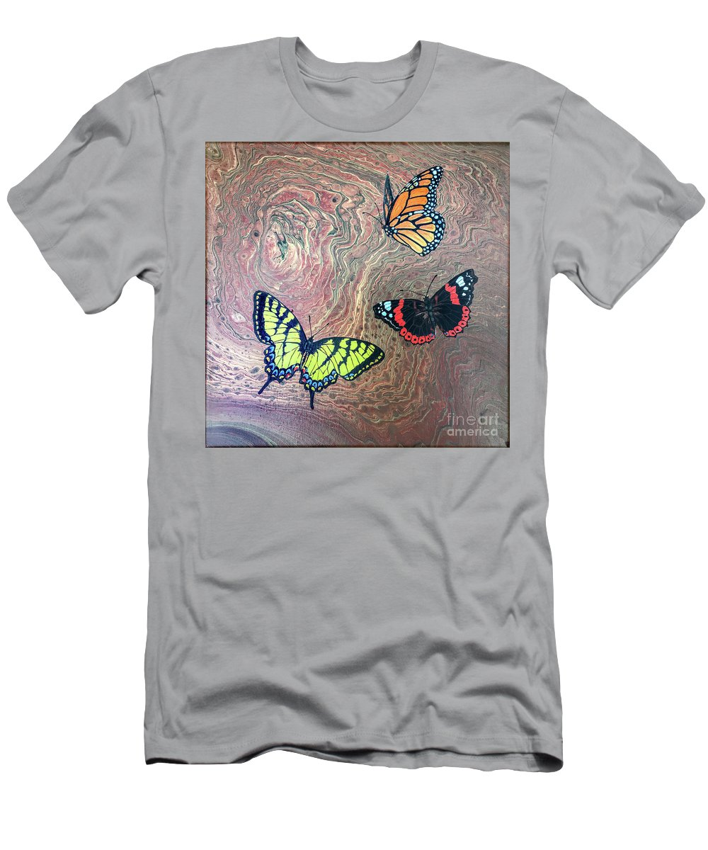 Butterflies T-Shirt featuring the painting California Butterflies by Lucy Arnold