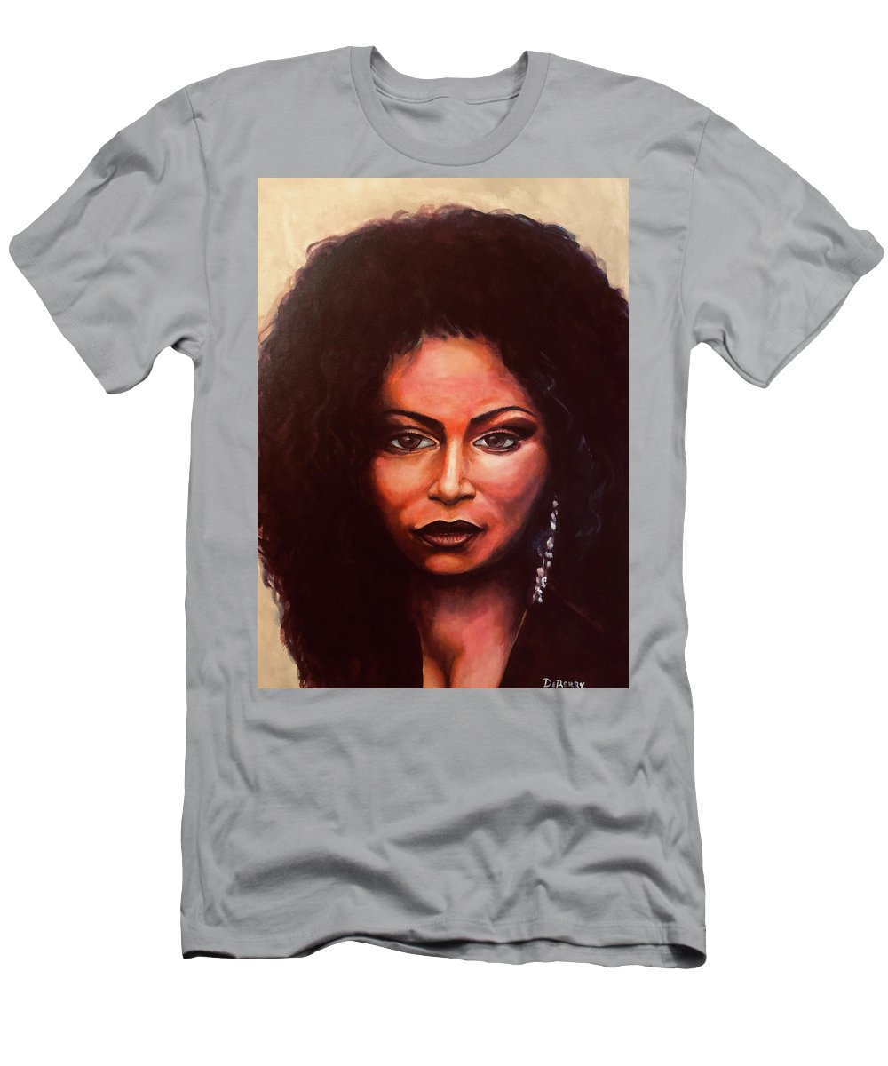 Chaka: Original 24x36in. Oil On Canvas Panel By Lloyd Deberry T-Shirt featuring the painting Chaka by Lloyd DeBerry