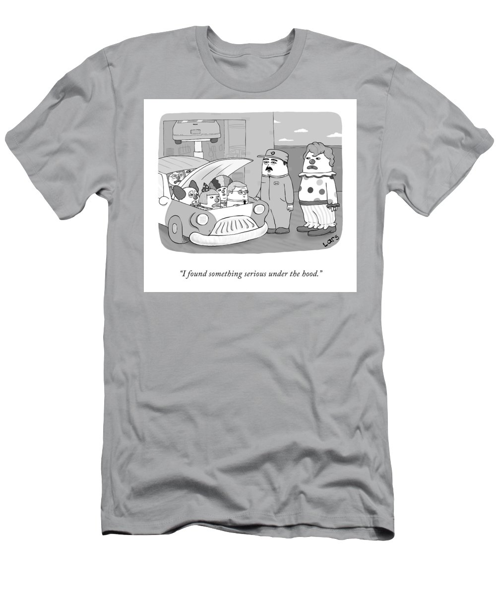 Cctk T-Shirt featuring the drawing Clown Car by Lars Kenseth