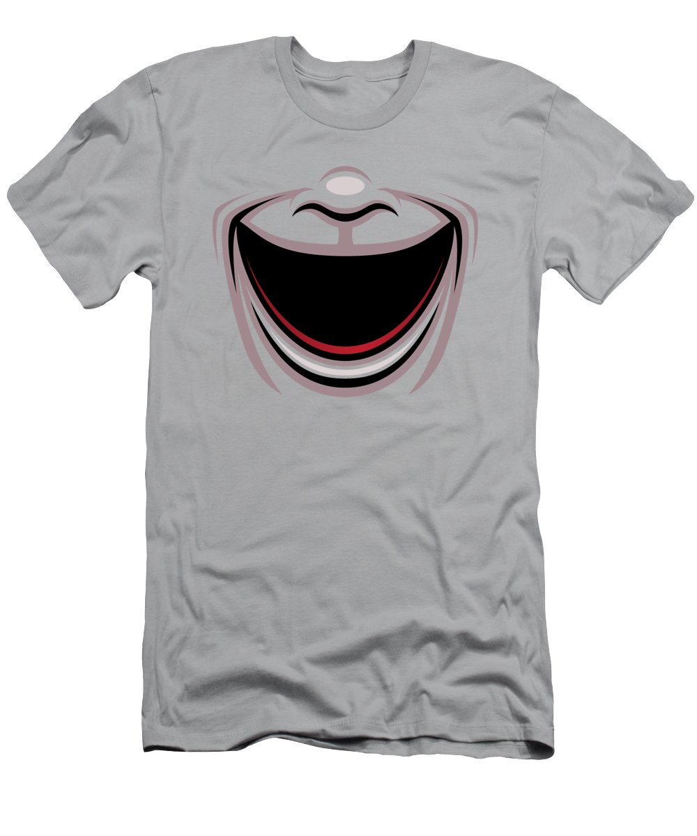 Acting T-Shirt featuring the digital art Comedy Theater Mask by John Schwegel
