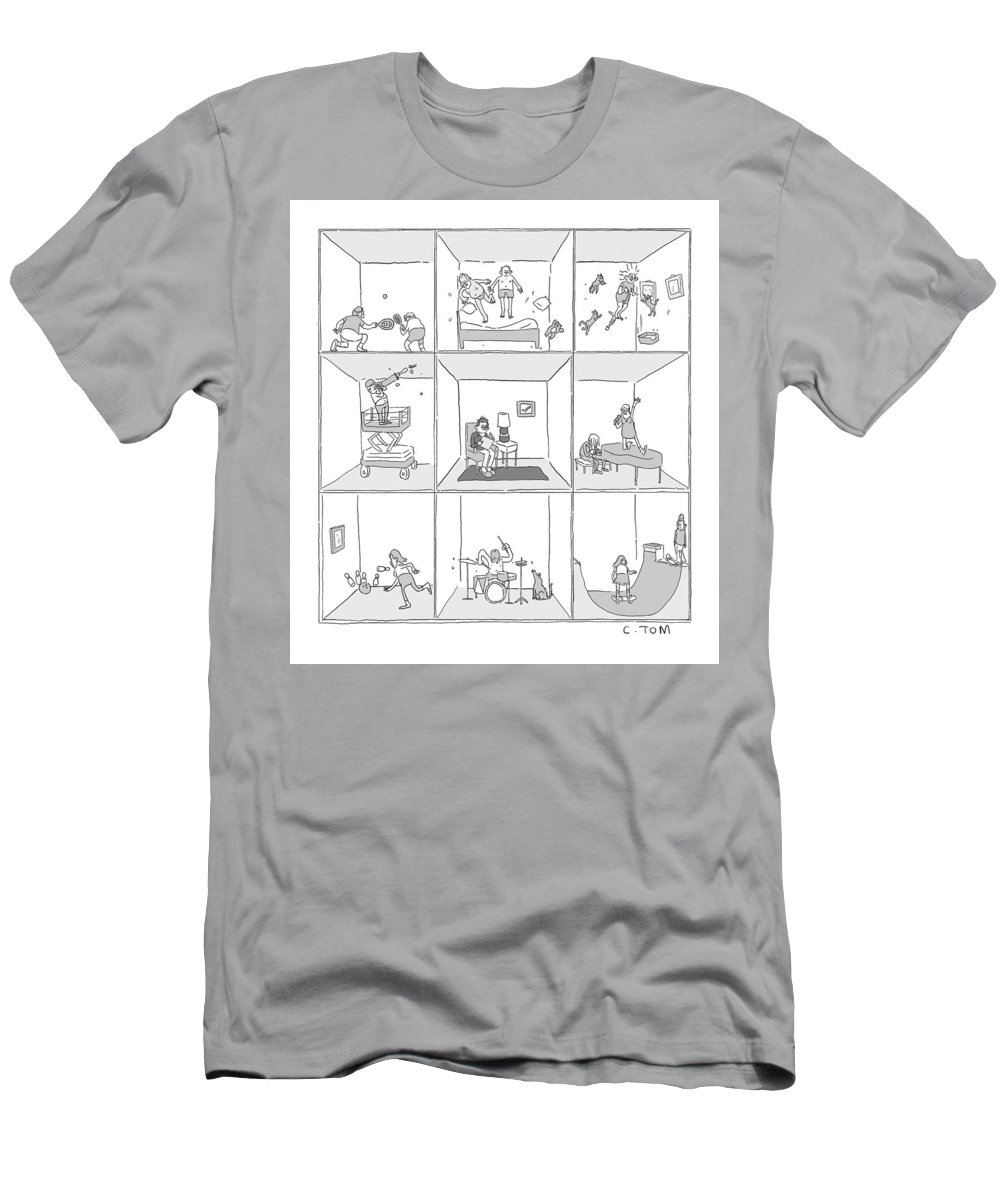 Captionless T-Shirt featuring the drawing Cross Section by Tom Colin