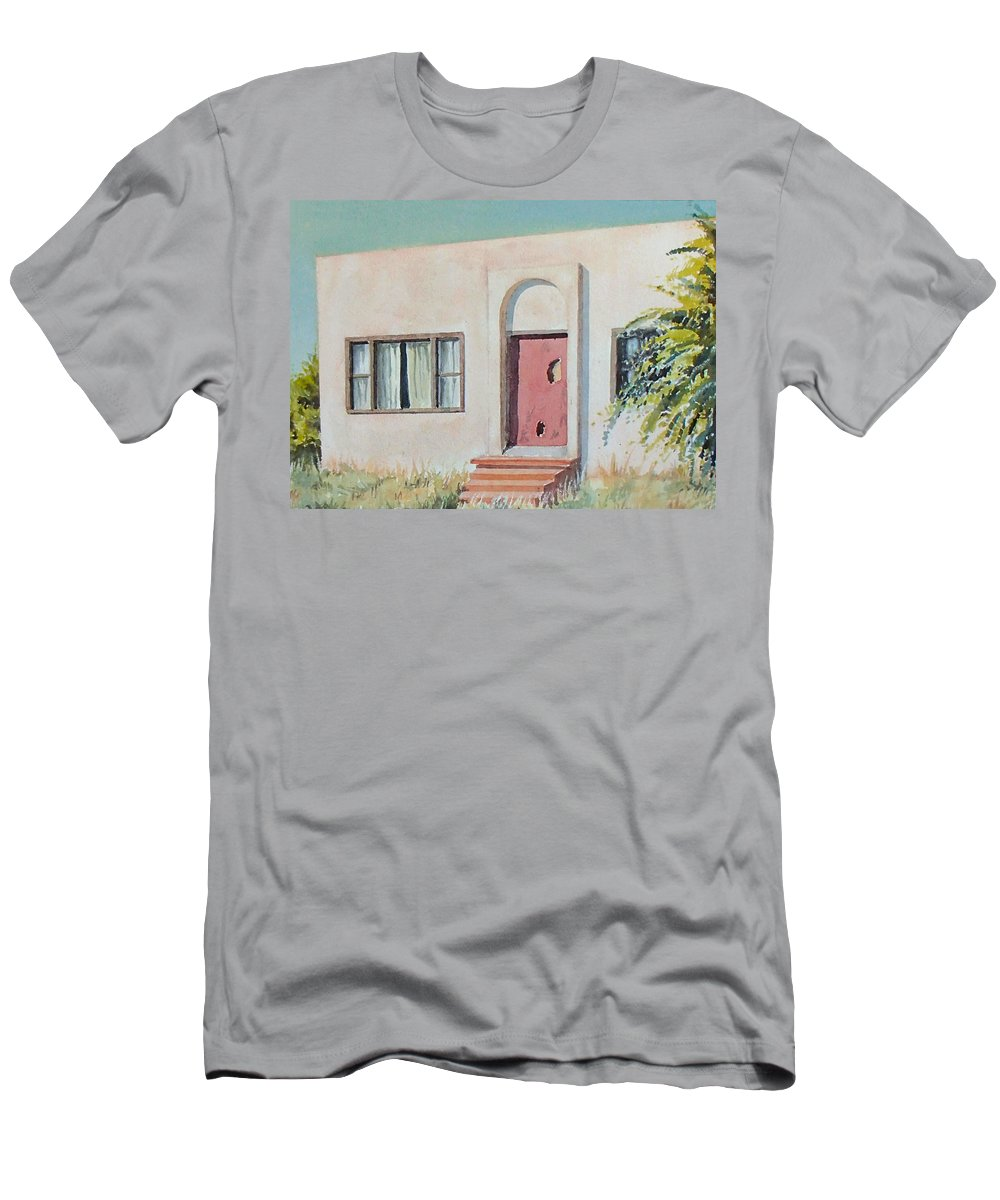 House T-Shirt featuring the painting Once was a Home by Philip Fleischer