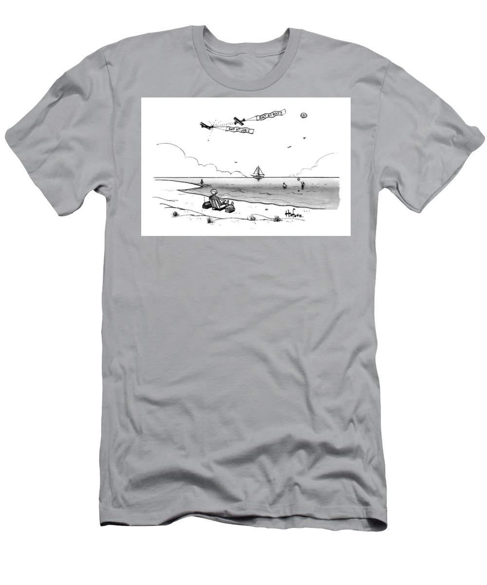 Caoptionless T-Shirt featuring the drawing Eat At Ray's by Kaamran Hafeez