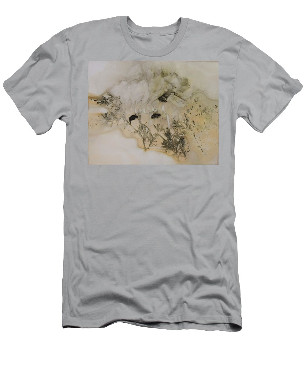Nature T-Shirt featuring the mixed media Eco print 5 by Charla Van Vlack