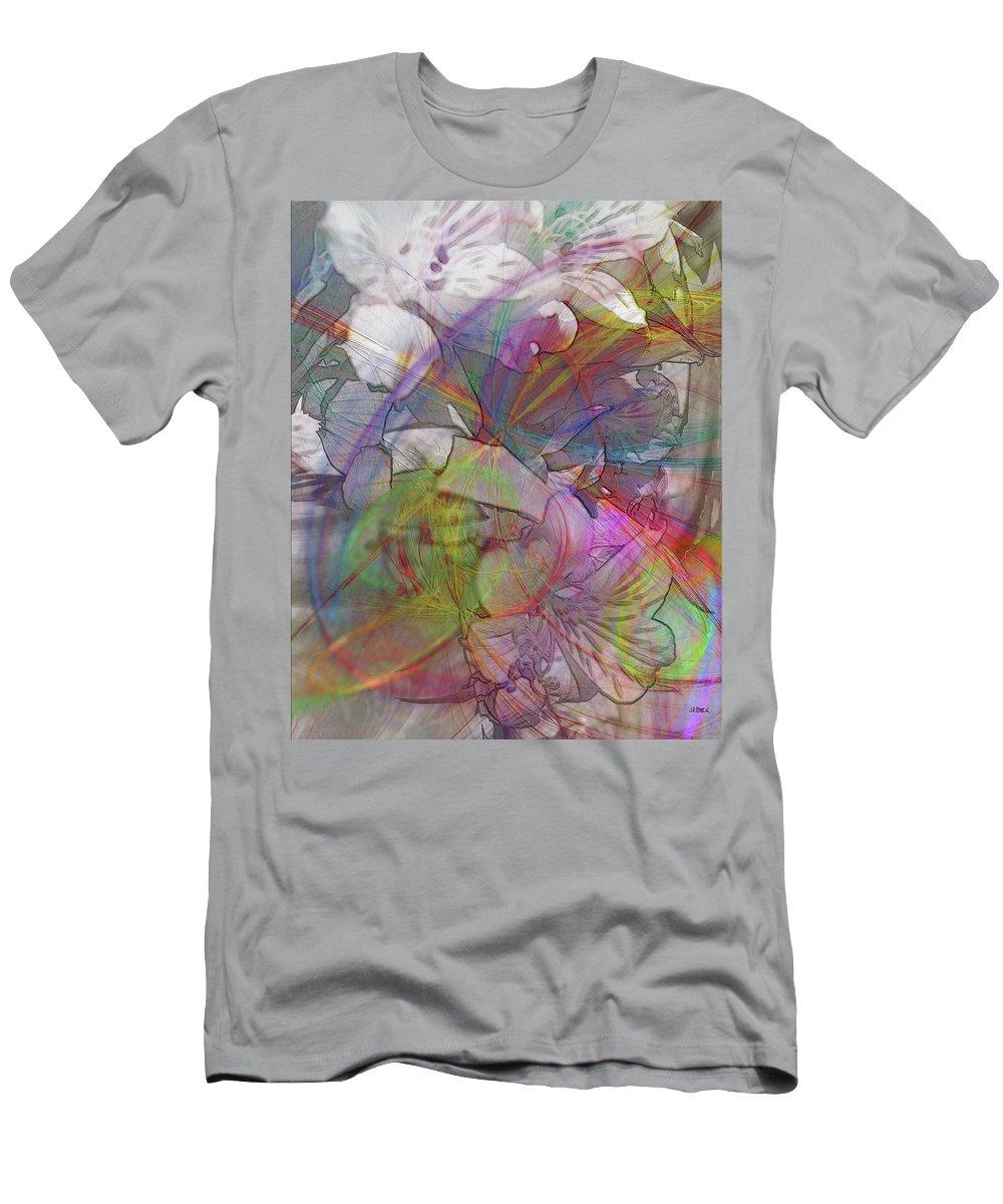 Floral Fantasy T-Shirt featuring the digital art Floral Fantasy by John Robert Beck