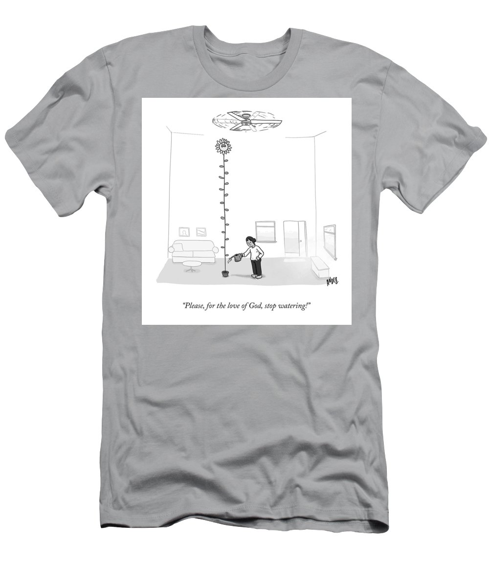 Please For The Love Of God T-Shirt featuring the drawing For The Love Of God by Alexander Andreades