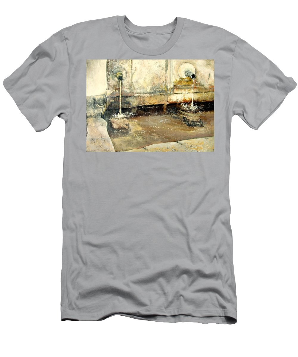 Fuente T-Shirt featuring the painting Fuente by Tomas Castano