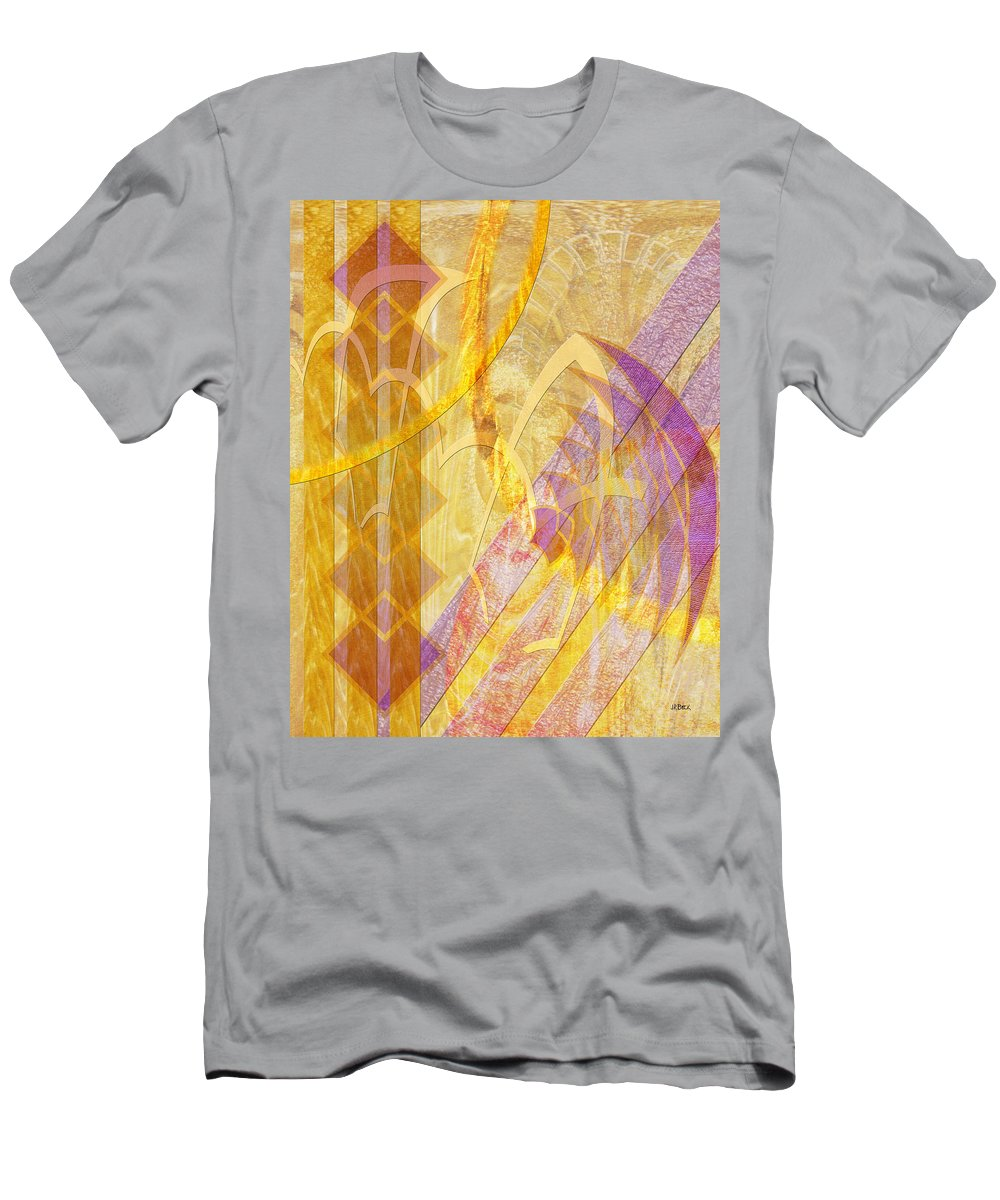 Gold Fusion T-Shirt featuring the digital art Gold Fusion by Studio B Prints