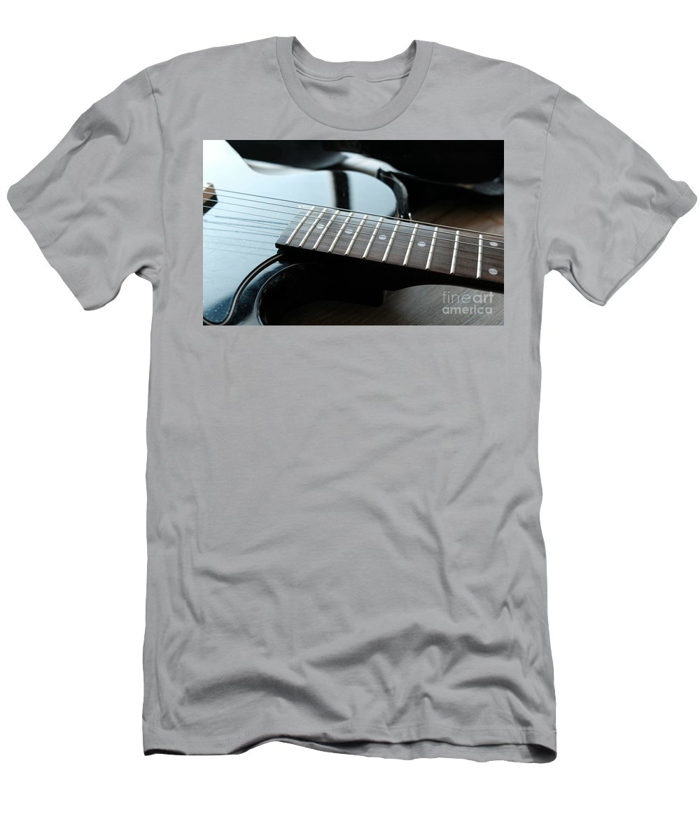 Guitar T-Shirt featuring the photograph Guitar Fingerboard Or Fretboard Closeup by Luca Lorenzelli