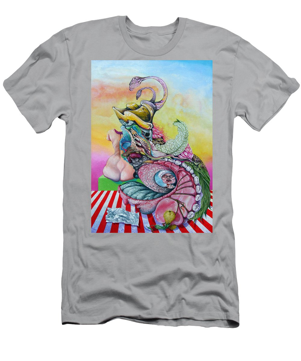 T-Shirt featuring the painting Inside Out by Otto Rapp