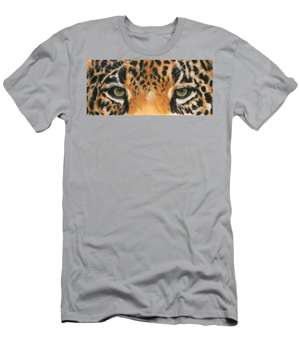Jaguar T-Shirt featuring the painting Jaguar Gaze by Barbara Keith