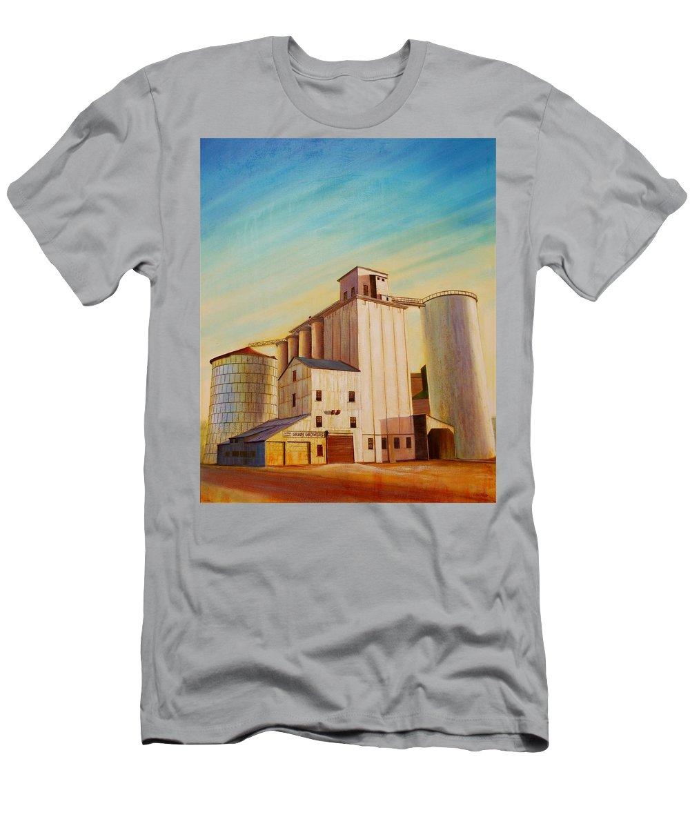 Grain T-Shirt featuring the painting Latah County Grain Growers by Leonard Heid