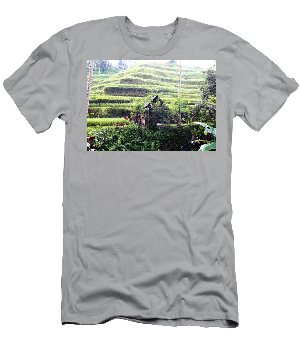 Hut T-Shirt featuring the digital art Little hut surrounded by flowers by Worldvibes1