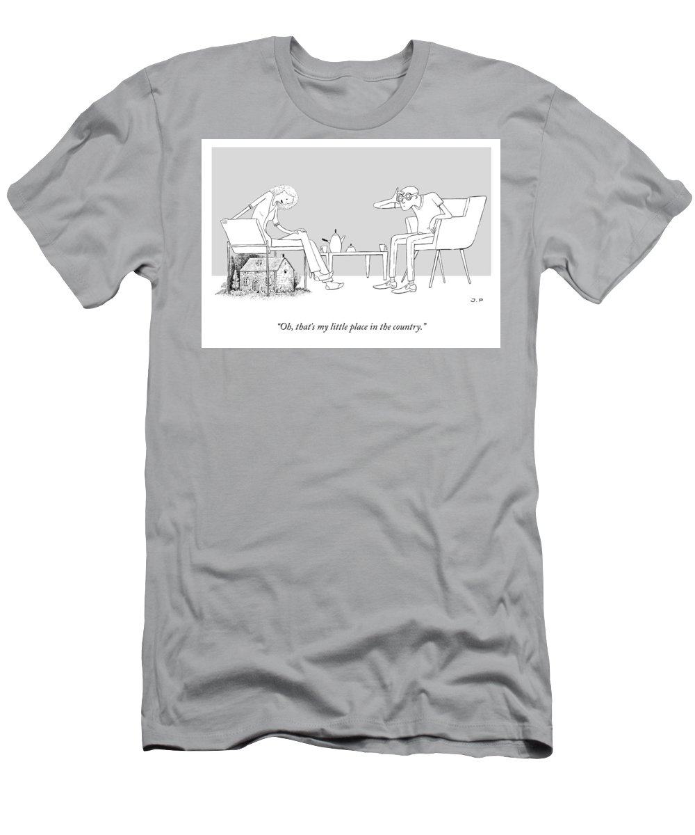 Oh T-Shirt featuring the drawing My Little Place In The Country by Julia Leigh and Phillip Day