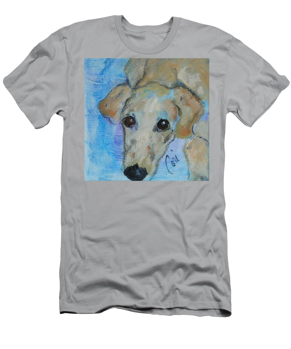 Acrylic T-Shirt featuring the drawing Pupster by Cori Solomon