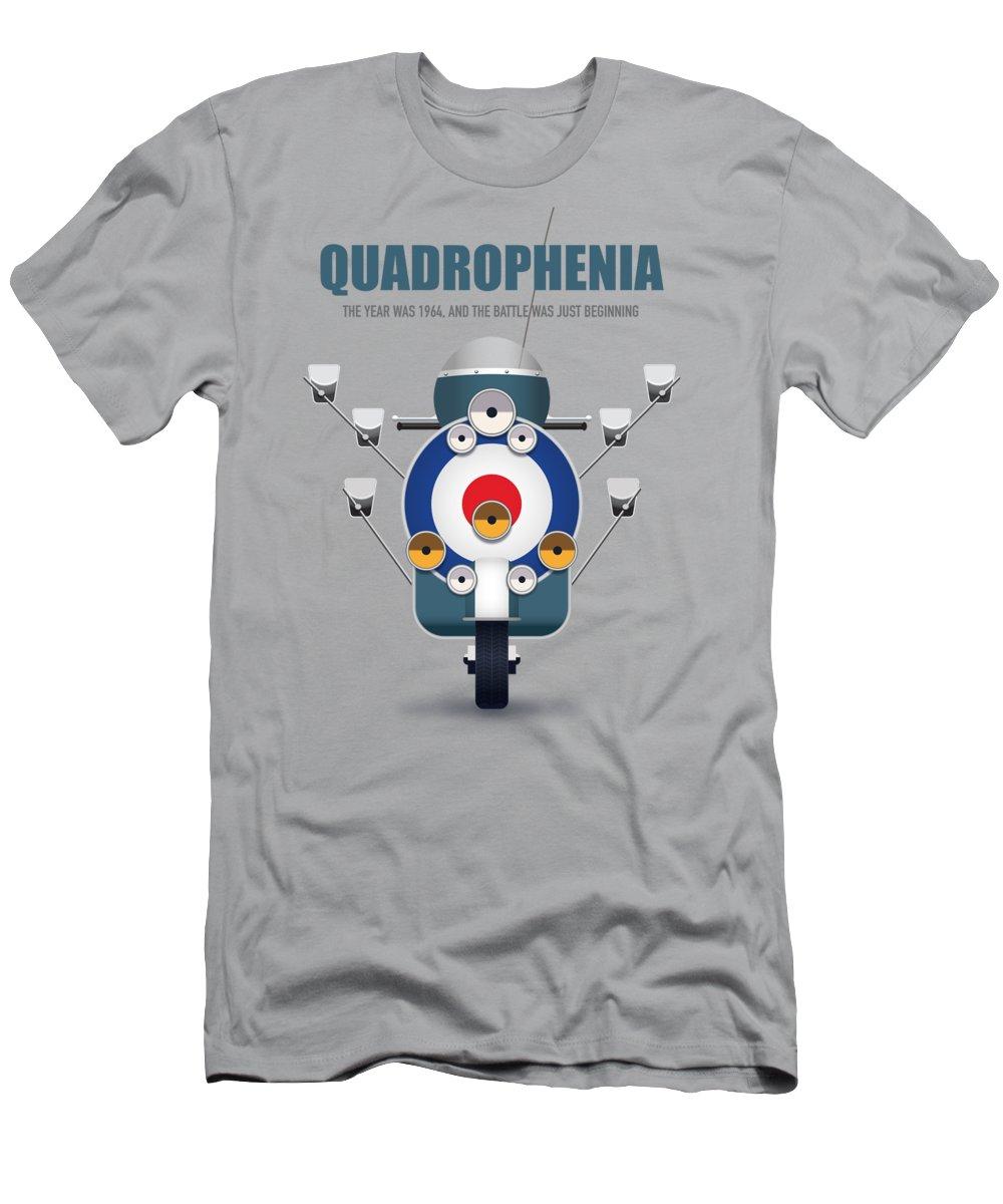 Quadrophenia T-Shirt featuring the digital art Quadrophenia - Alternative Movie Poster by Movie Poster Boy