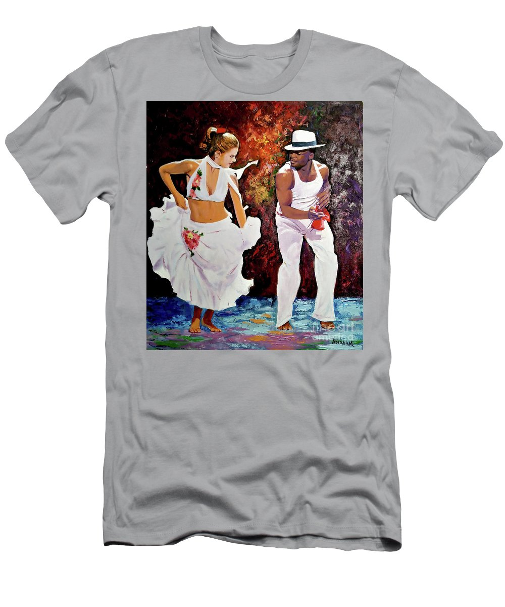 Dancing T-Shirt featuring the painting Salsa by Jose Manuel Abraham