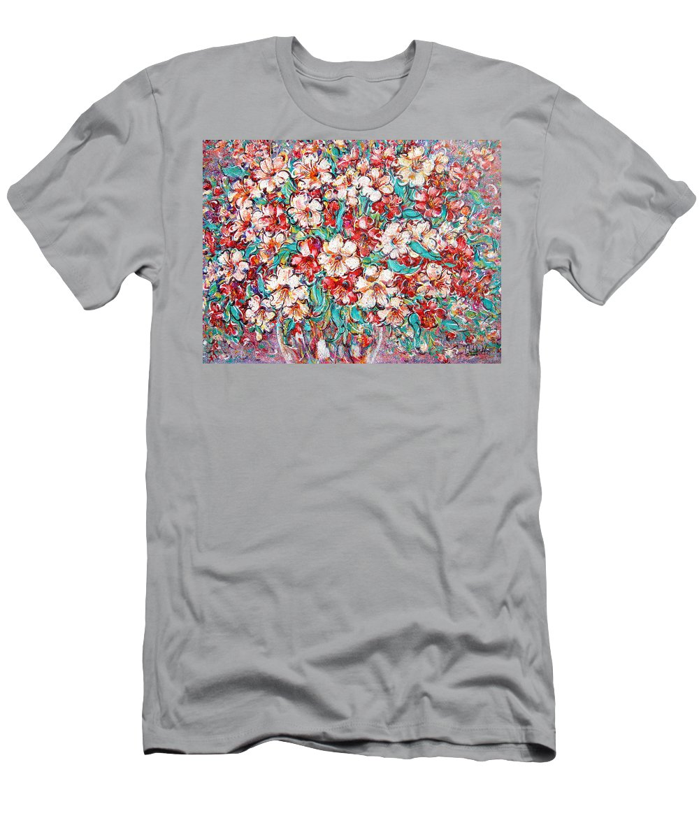 Flowers T-Shirt featuring the painting Shakespeare Scents by Natalie Holland