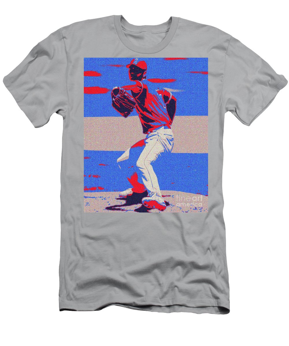 Ohtani T-Shirt featuring the painting Shohei Ohtani 2020 by Jack Bunds