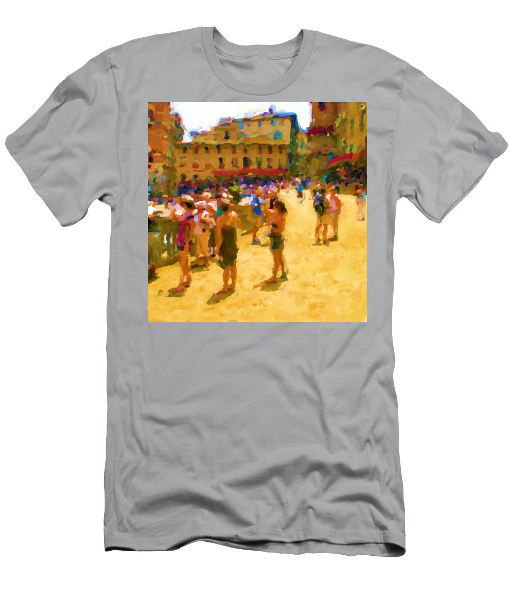 Sienna T-Shirt featuring the mixed media Sienna by Asbjorn Lonvig
