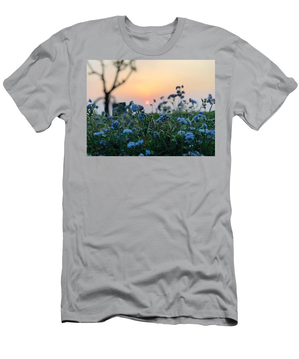 Flowers T-Shirt featuring the photograph Sunset Behind Flowers by Prashant Dalal