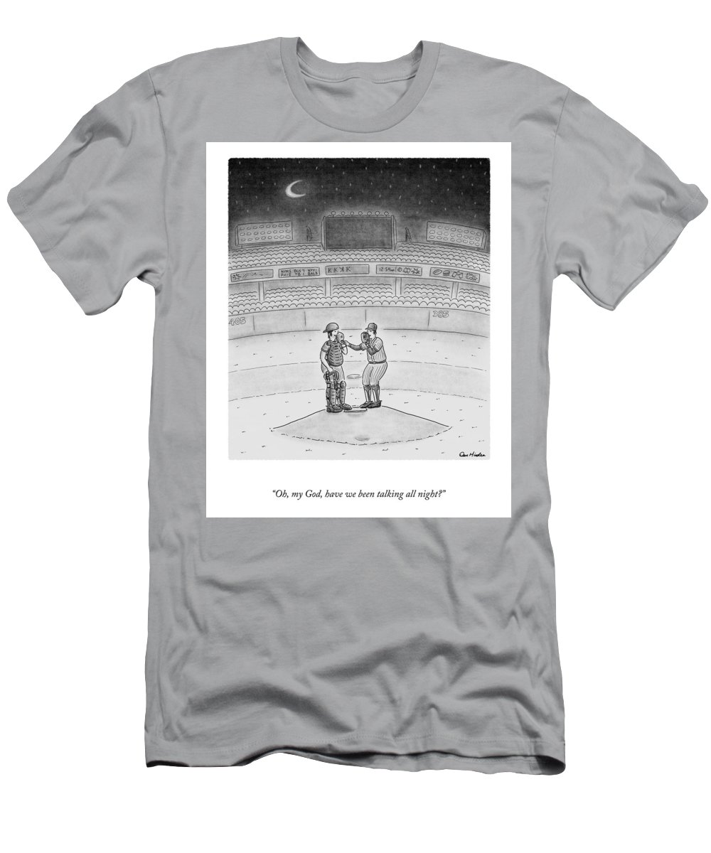 A25519 T-Shirt featuring the drawing Talking All Night by Dan Misdea