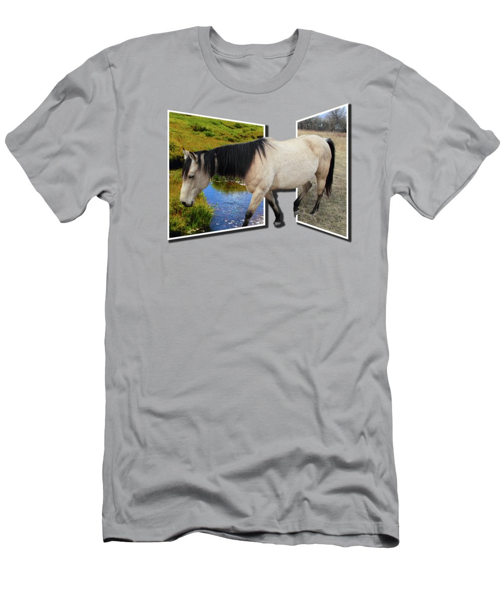 Horse T-Shirt featuring the photograph The Grass Is Always Greener On The Other Side by Shane Bechler