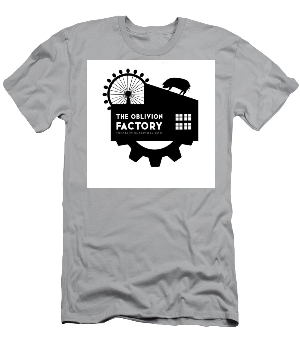 The Oblivion Factory T-Shirt featuring the digital art The Oblivion Factory Logo by Jud Turner