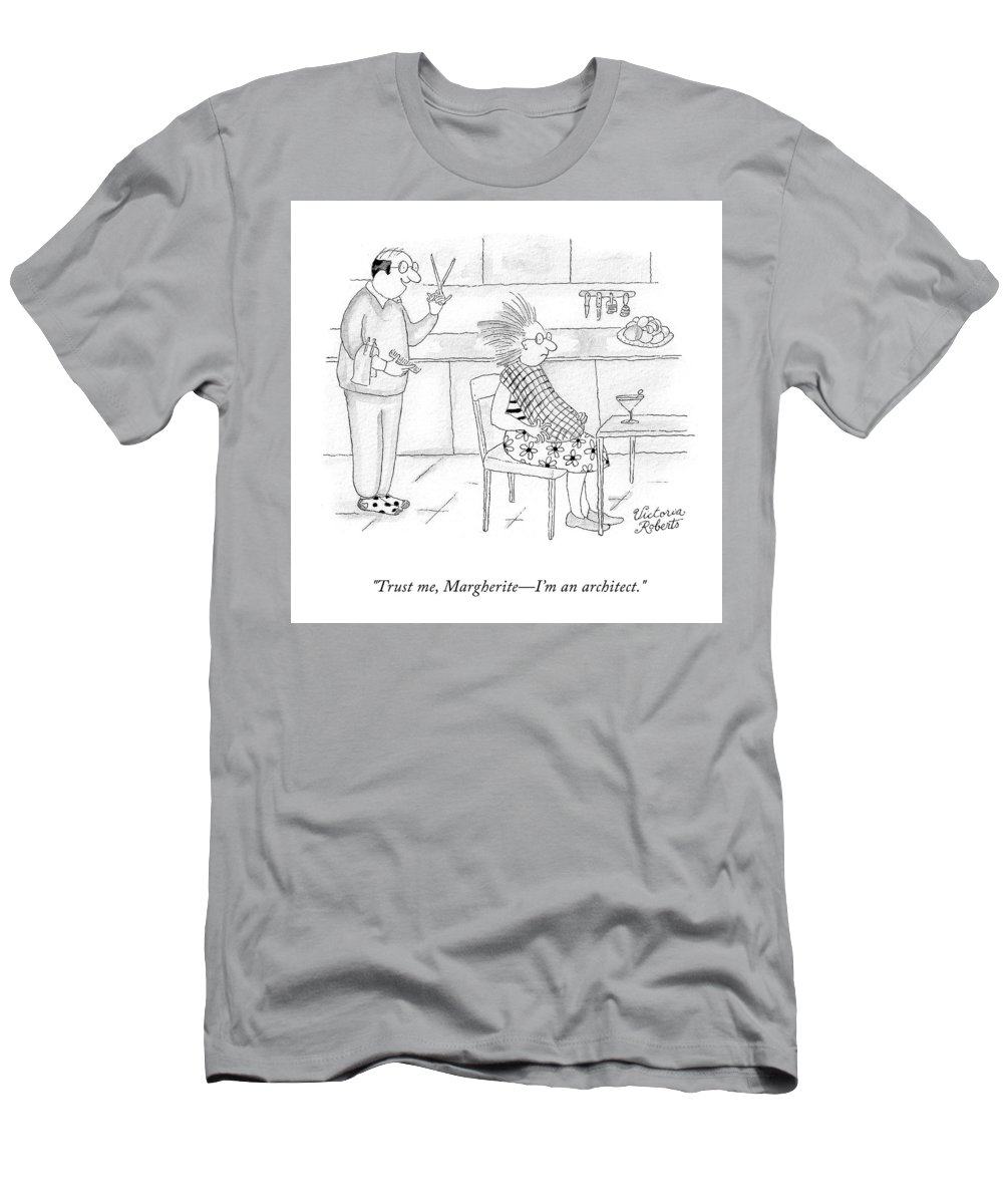 """marguerite T-Shirt featuring the drawing Trust Me by Victoria Roberts"