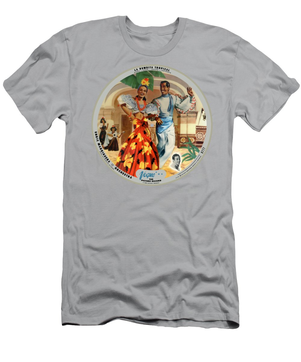 Vogue Picture Record T-Shirt featuring the digital art Vogue Record Art - R 777 - P 136 - Square Version by John Robert Beck