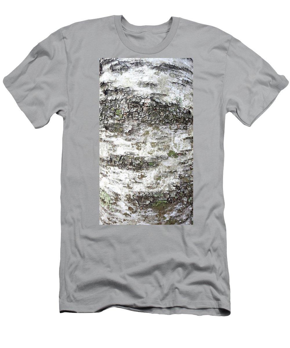 White Birch Bark T-Shirt featuring the photograph White Birch Bark by Trevor Slauenwhite