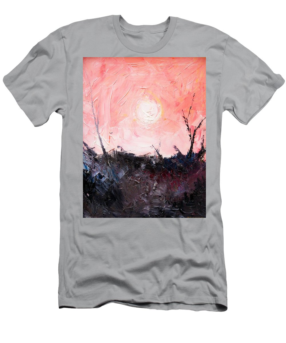 Duck T-Shirt featuring the painting White Sun by Sergey Bezhinets