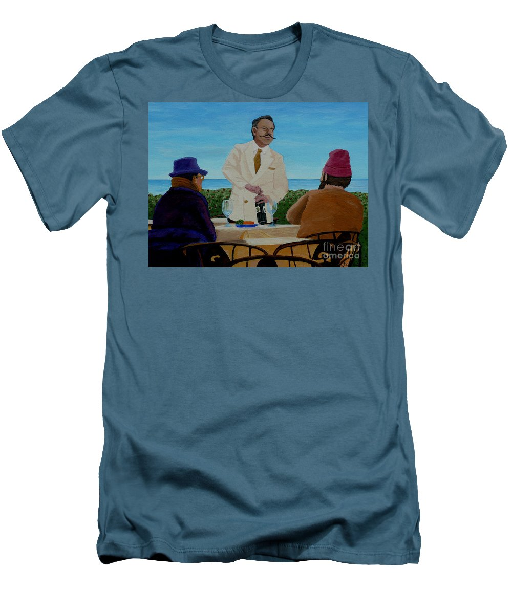 Wine Men's T-Shirt (Athletic Fit) featuring the painting A Fresh Bottle by Anthony Dunphy