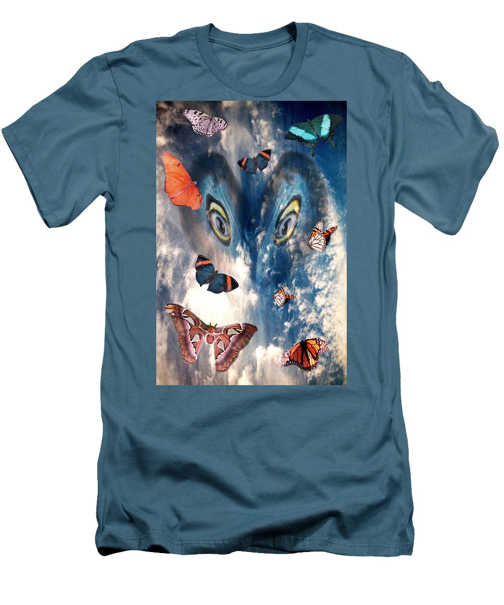 Air Men's T-Shirt (Athletic Fit) featuring the digital art Air by Lisa Yount