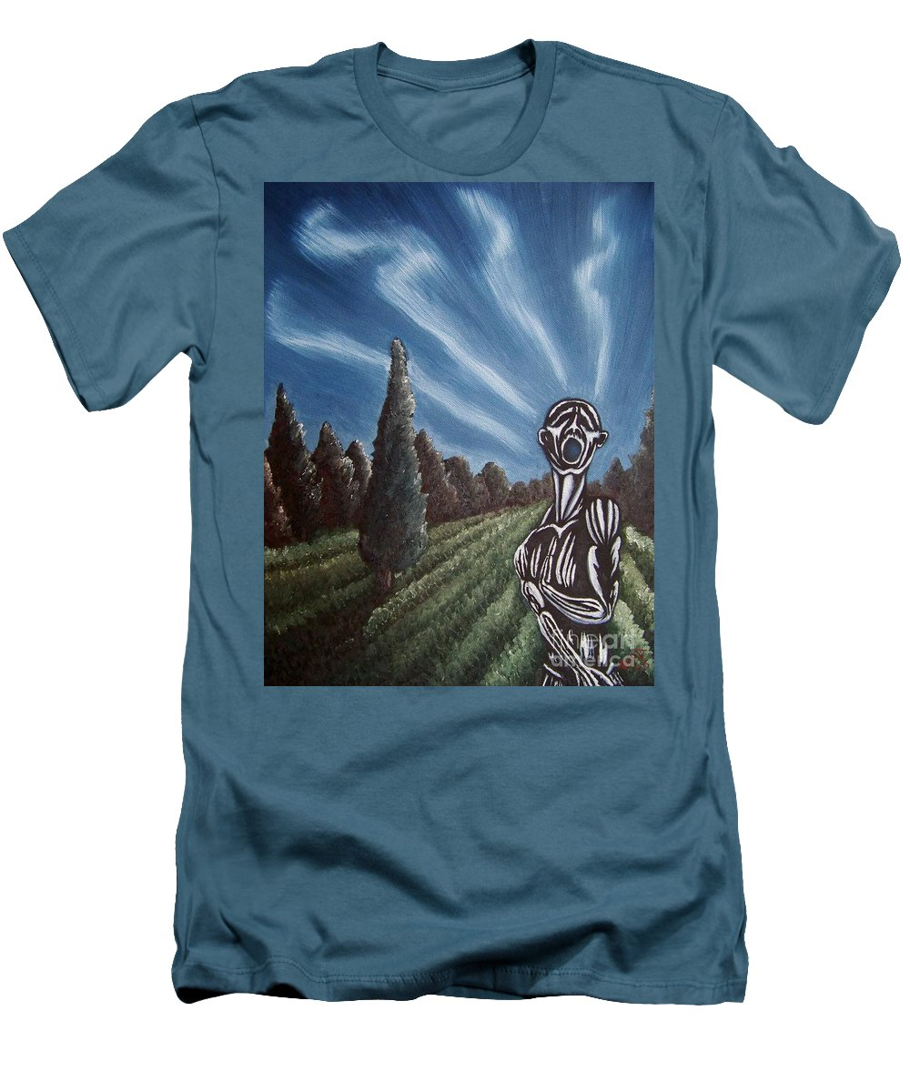 Tmad Men's T-Shirt (Athletic Fit) featuring the painting Aurora by Michael TMAD Finney