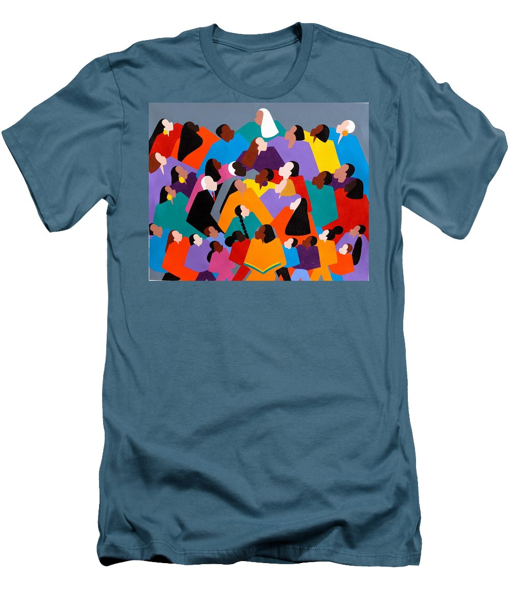 Figurative Men's T-Shirt (Athletic Fit) featuring the painting Brilliance by Synthia SAINT JAMES