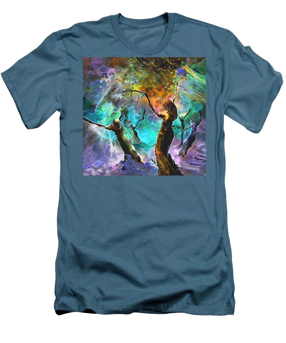 Miki Men's T-Shirt (Athletic Fit) featuring the painting Celebration Of Life by Miki De Goodaboom