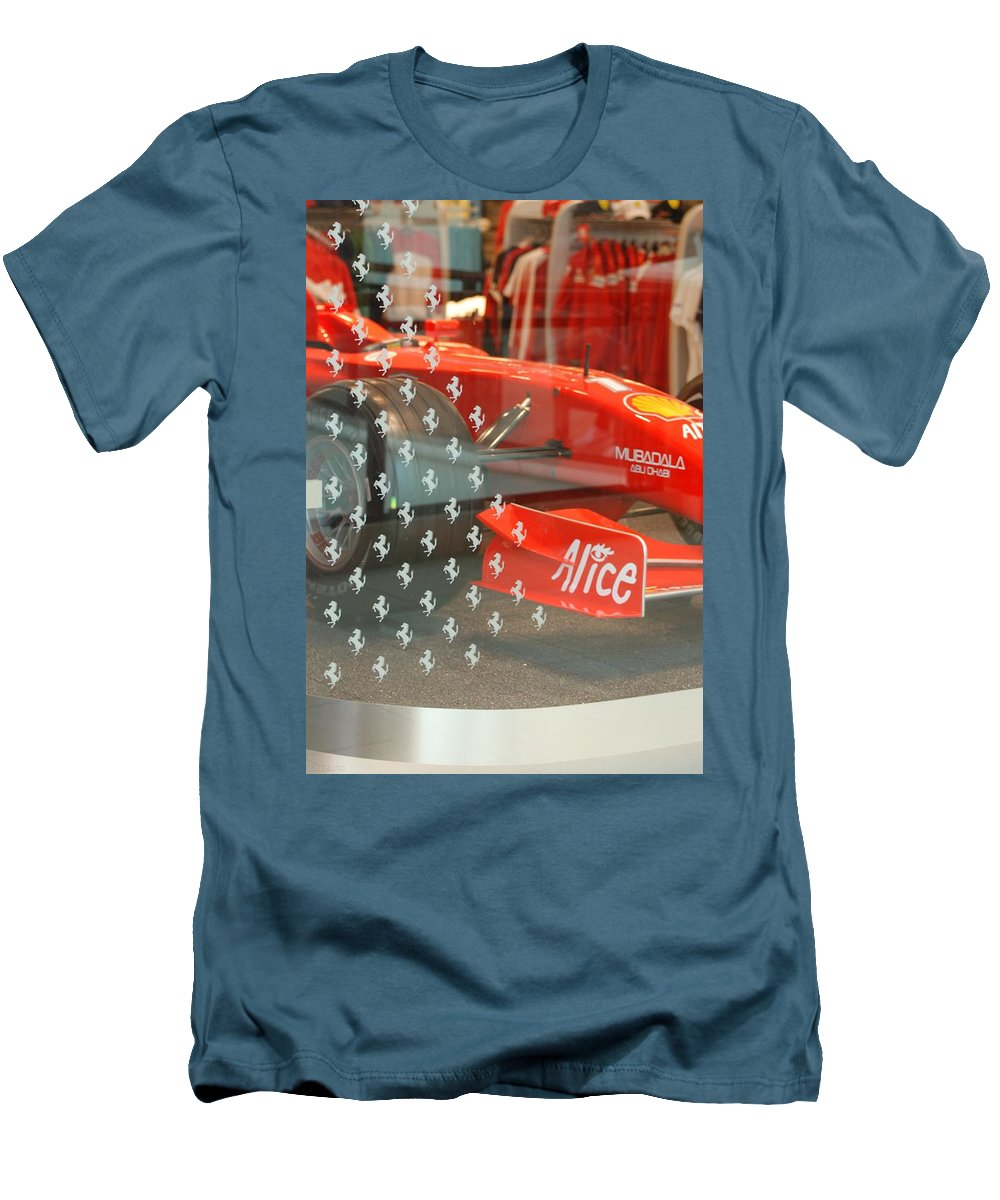 Stallions Men's T-Shirt (Athletic Fit) featuring the photograph Ferrari Formula One by Rob Hans