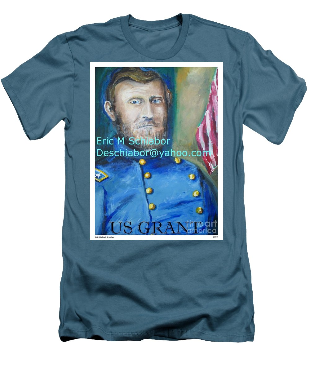 Grant Artwork Men's T-Shirt (Athletic Fit) featuring the painting General Us Grant by Eric Schiabor