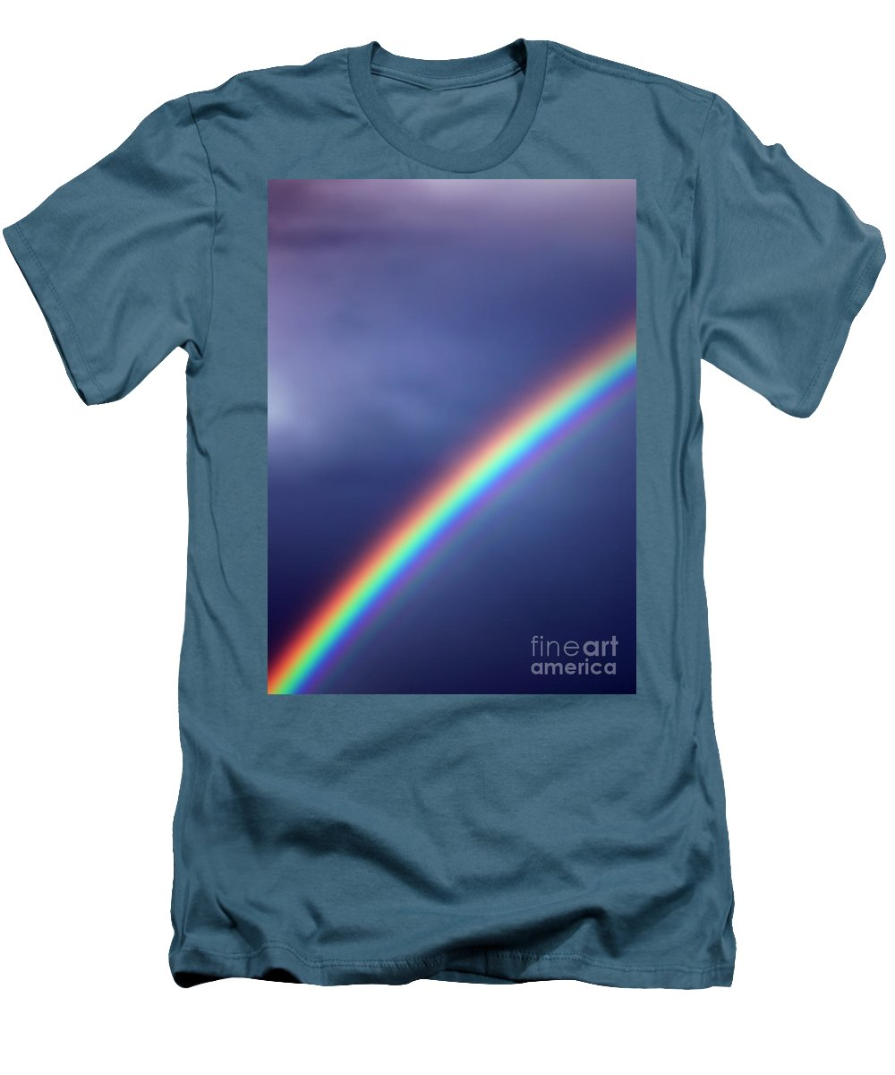 Rainbow Men's T-Shirt (Athletic Fit) featuring the photograph Hold On For Hope by Amanda Barcon