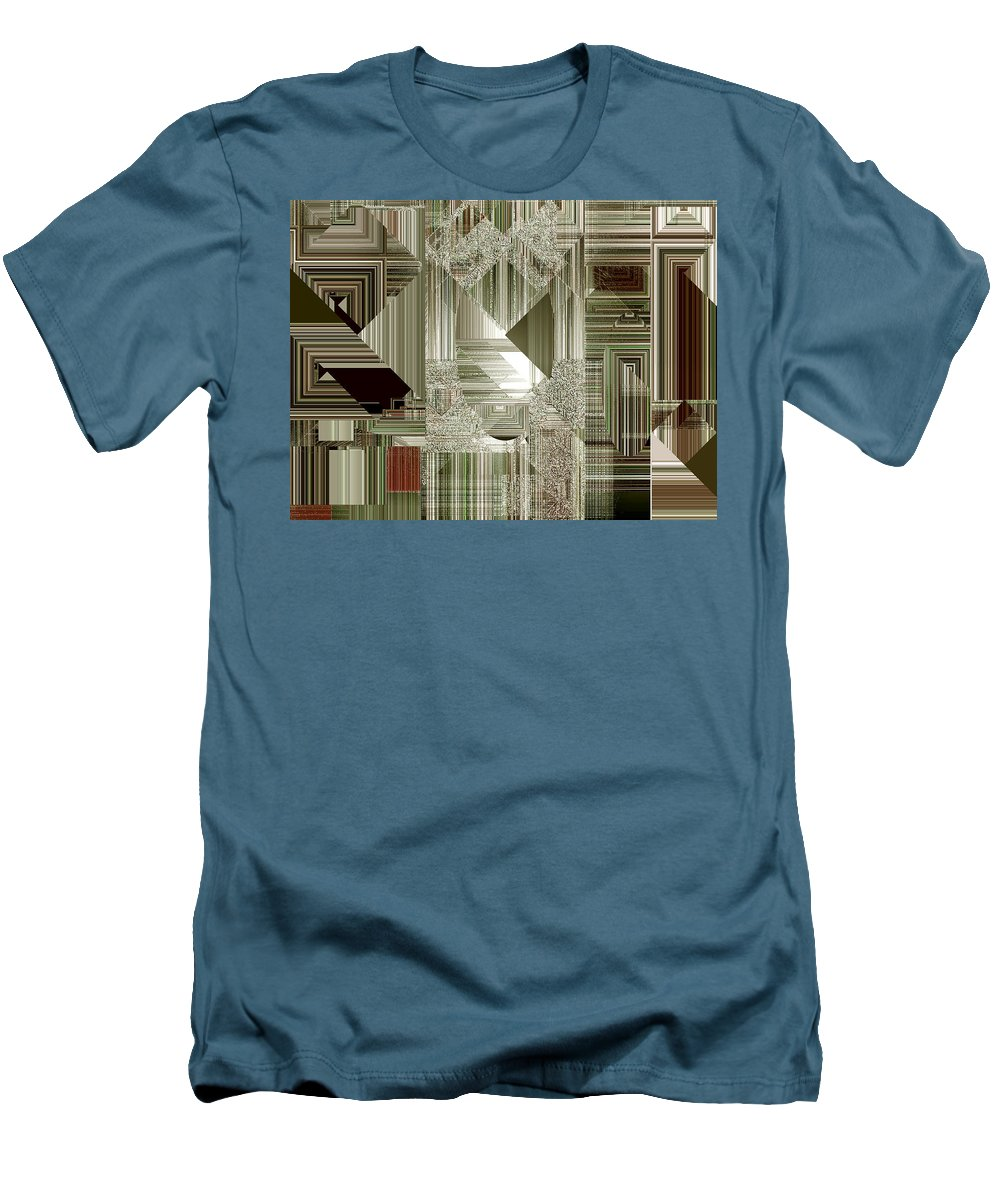 Abstract Men's T-Shirt (Athletic Fit) featuring the painting Indecision I by RC deWinter