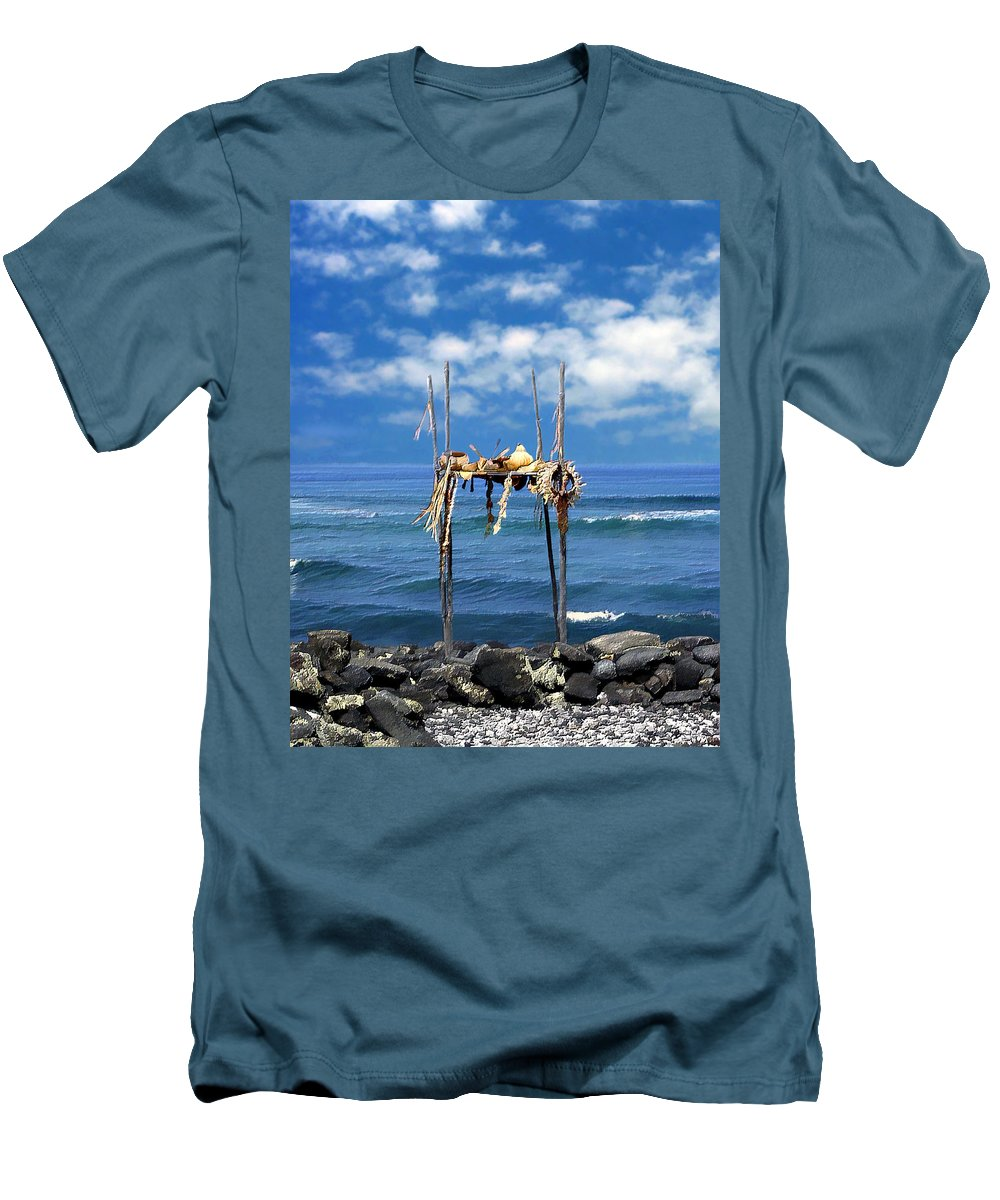 Hawaii Men's T-Shirt (Athletic Fit) featuring the photograph Ku Emanu Heiau Kona by Kurt Van Wagner