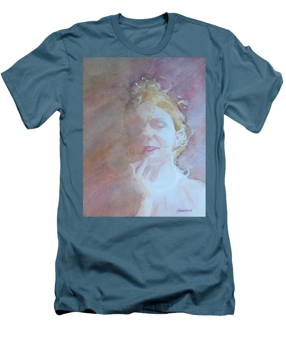 Romance Men's T-Shirt (Athletic Fit) featuring the painting Memories Of Romance by Jenny Armitage
