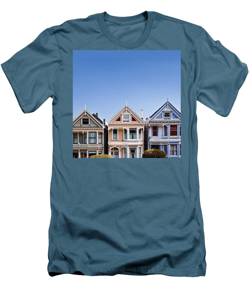 Painted Ladies Men's T-Shirt (Athletic Fit) featuring the photograph Painted Ladies by Dave Bowman