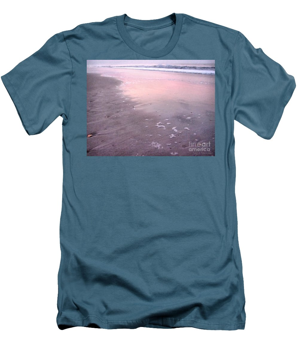 Landscape Men's T-Shirt (Athletic Fit) featuring the photograph Pastel Beach by Todd A Blanchard