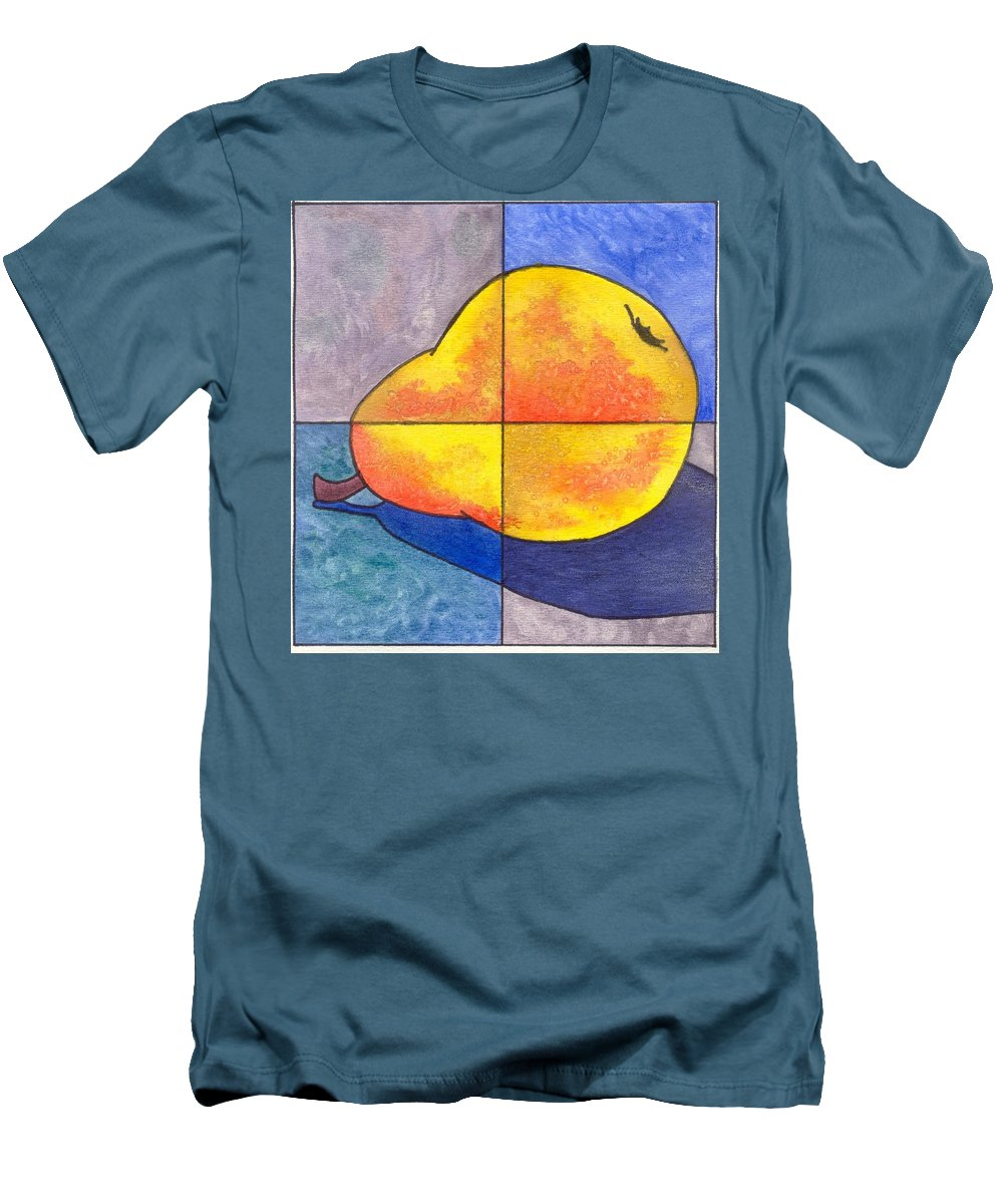 Pear Men's T-Shirt (Athletic Fit) featuring the painting Pear I by Micah Guenther