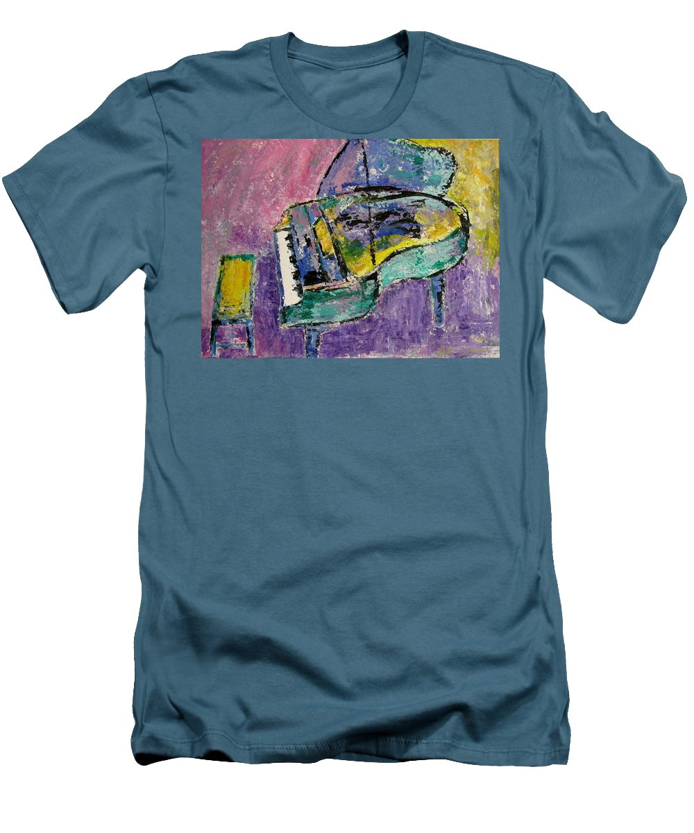 Impressionist Men's T-Shirt (Athletic Fit) featuring the painting Piano Green by Anita Burgermeister
