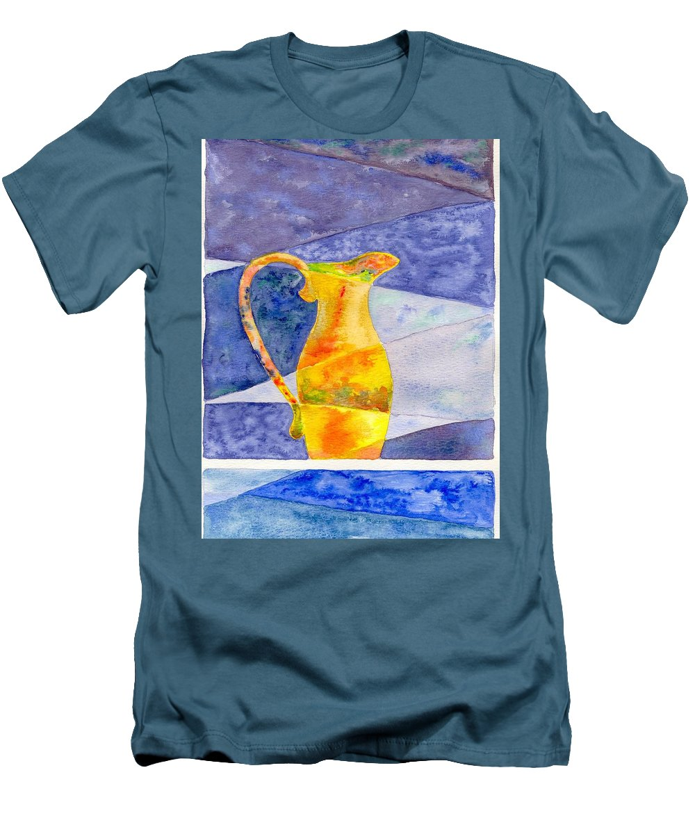 Still Life Men's T-Shirt (Athletic Fit) featuring the painting Pitcher 1 by Micah Guenther