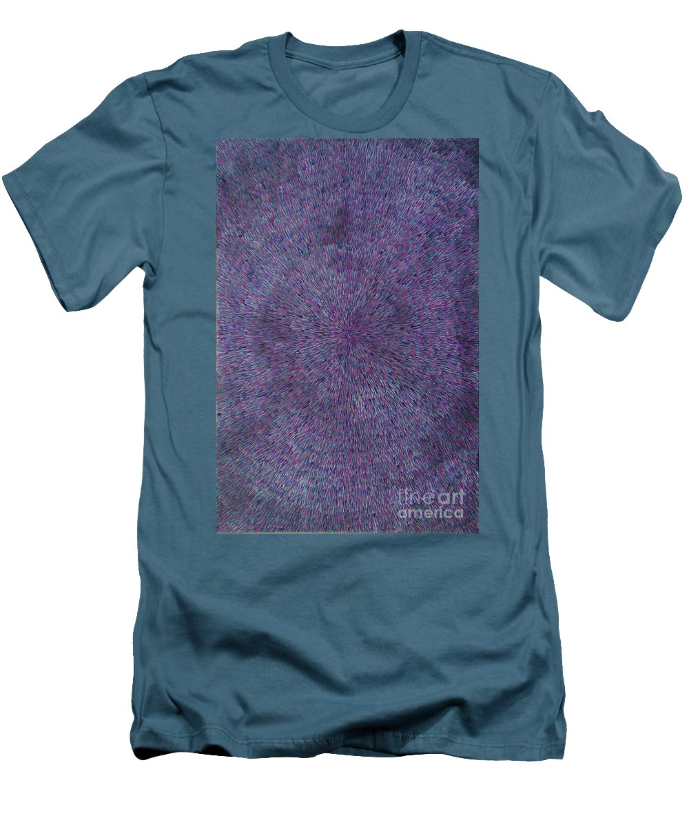 Abstract Men's T-Shirt (Athletic Fit) featuring the painting Radiation Violet by Dean Triolo
