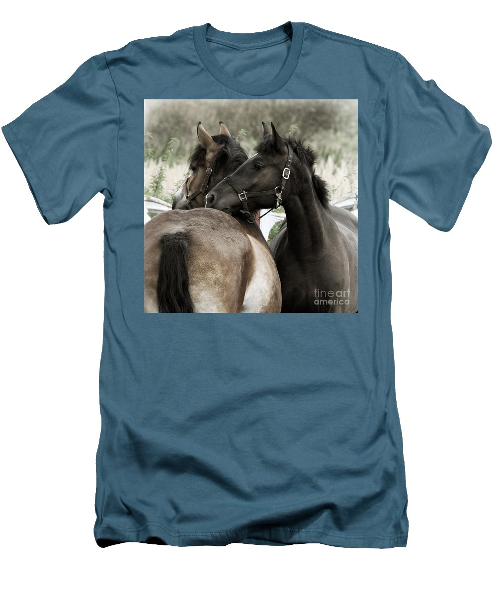 Valentines Men's T-Shirt (Athletic Fit) featuring the photograph Staying Together by Angel Tarantella